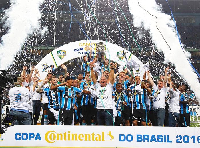 Grêmio conquista o pentacampeonato da Copa do Brasil e se torna o maior vencedor da competição. Foto: Grêmio/Divulgação.