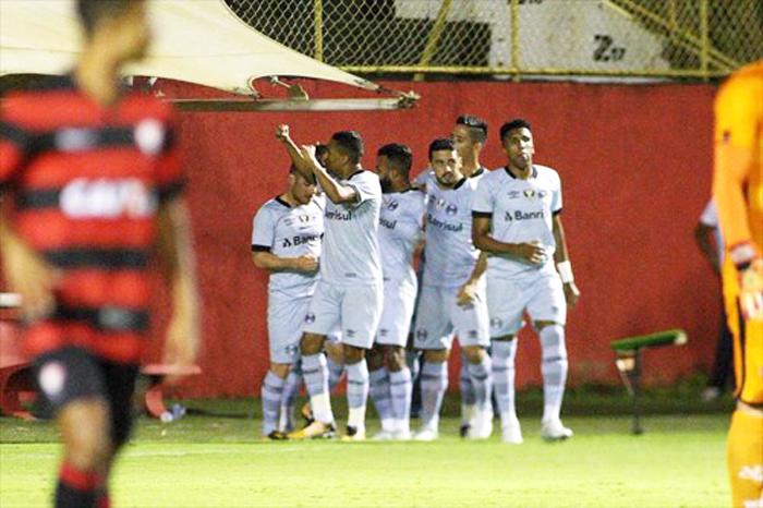 Grêmio vence Vitória no Barradão. Foto: Lucas Uebel/Grêmio/Divulgação